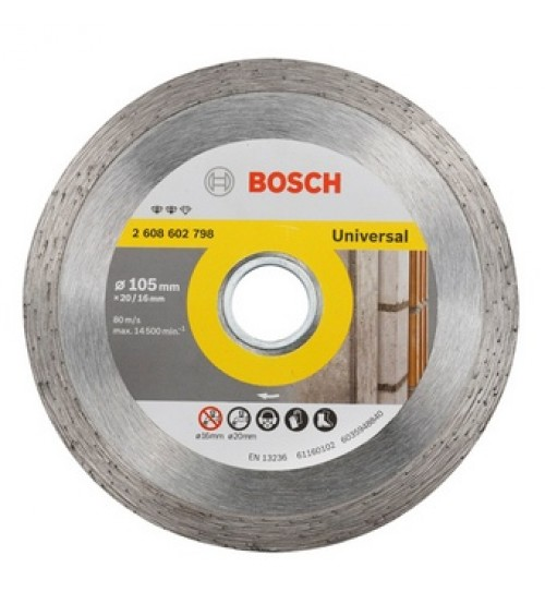 "Bosch 4"" - 105mm Diamond cutting disc Expert for Universal - 05 Nos"