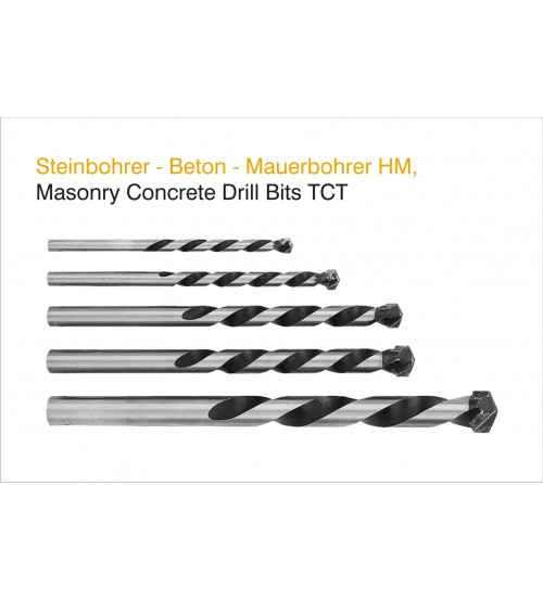5mm Masonry Concrete Drill Bits (Pack of 10 Pcs)