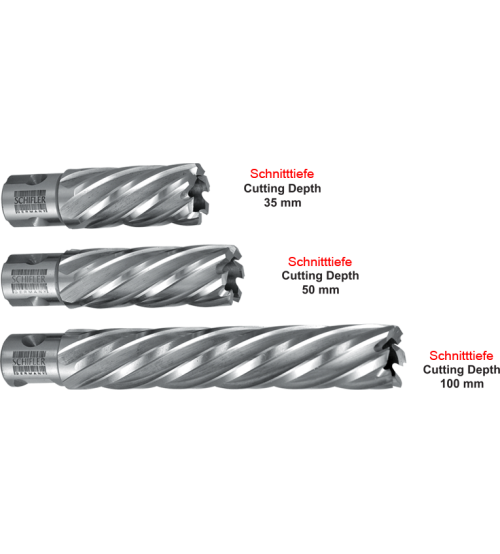 Schifler (Germany) HSS 16mm X 50mm CORE DRILLS