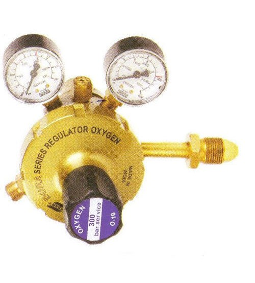 Esab IOX 13B - Single Stage Oxygen Regulator with TWO Guage