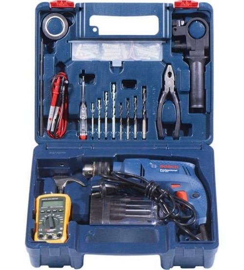 Impact Drill Bosch GSB 550 Electrician Kit Professional